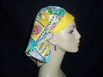 Easter Holiday Bouffant or Ponytail Scrub Hats