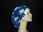 Winter So Cute Bears & Dots Bouffant or Ponytail Scrub Hat